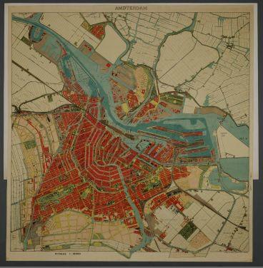 plattegrond amsterdam 1922